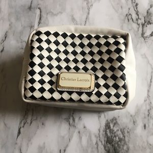 Christian Lacroix black and white makeup bag