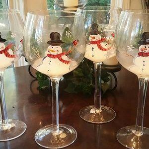 Xmas wine glasses