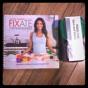 Fixate Cookbook w/portion control food containers