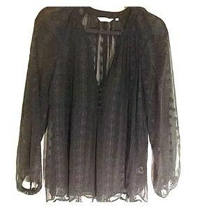Zoa black peasant blouse