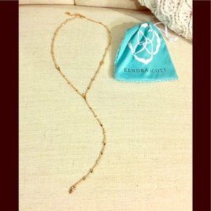 Kendra Scott lariat necklace.