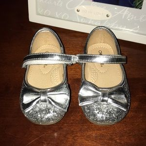 Silver shoes for baby girl 🎀