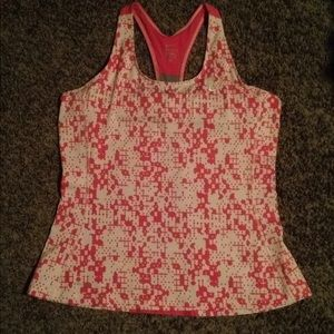 Nike Pink and White Geometric Dri-Fit Tank size XL