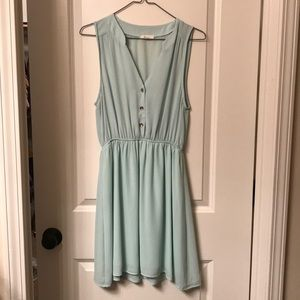 Lime sleeveless dress