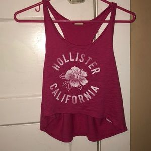 Pink cropped hollister tank