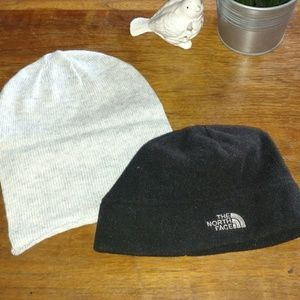 North Face and Divided beanies