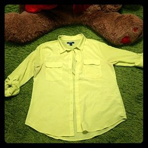 Fun Oversized Green Old Navy Button Up