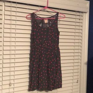 Polka dot dress with lace back detail
