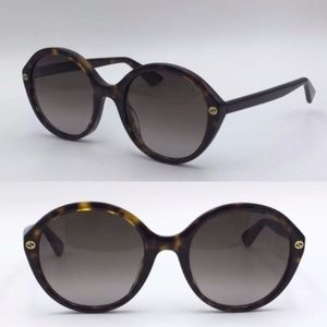 NWT Authentic Gucci Sunglasses GG 0023 Havana SS17