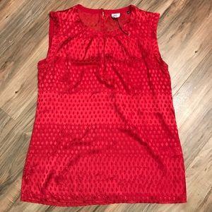 Cabi scarlet sleeveless dressy tunic