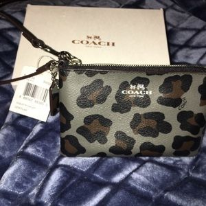NWT Authentic Coach limited edition wristlet