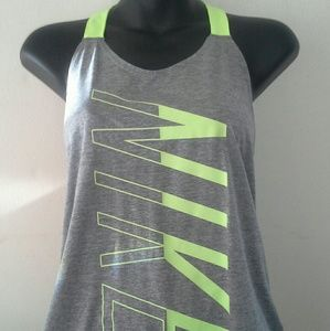 Gray/neon green Nike Work-out top..sm.