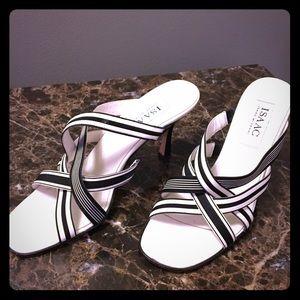 Isaac Mizrahi Black/White heels