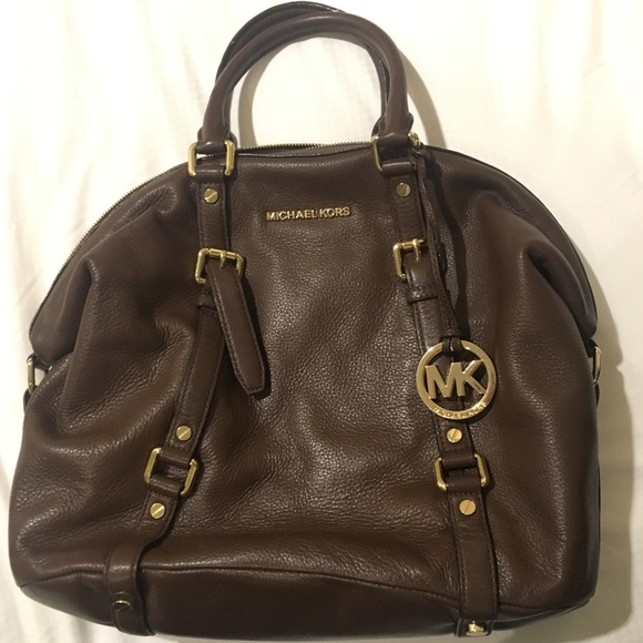 Michael Kors Handbags - Michael Kors Dark Brown Satchel