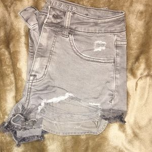 Brown/grey American eagle shorts size 2