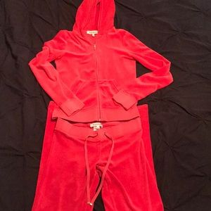 Red Juicy Couture Track Suit