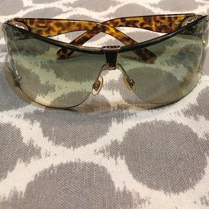 Authentic Gucci Gold Havana Sunglasses!