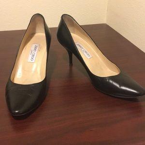 Black Jimmy Choo kitten heels