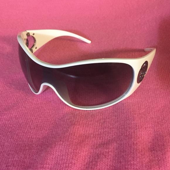 6a992f471af Giorgio Armani Sunglasses White Shields