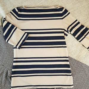 Striped Boatneck Top by Cynthia Rowley