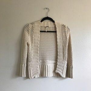 Free People knit cropped cardigan