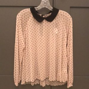 Urban Outfitters Polka Dot Blouse