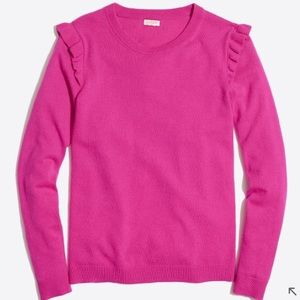 J. Crew Factory Ruffle-shoulder Sweater