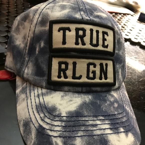 ddc54570 True Religion Accessories   Marble Dyed Baseball Cap   Poshmark