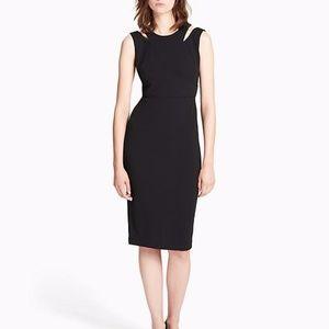 NWT Calvin Klein Cut-Out Shoulder Sheath Dress