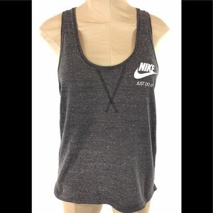Nike Womens Racerback Tank Top Sz M Gray Retro 90s