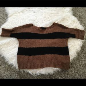 Black and brown striped sweater