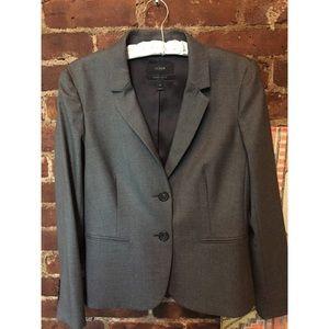 Jcrew Grey Wool Blazer