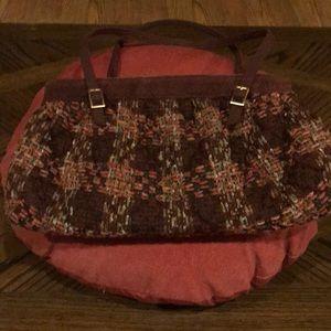 Vera Bradley Handbag Weave with Suede Gold Buckles