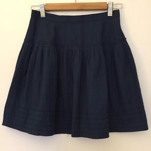 Ecote blue embroidered flare bubble skirt
