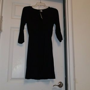 Black 3/4 sleeve jersey dress
