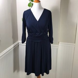 Dresses & Skirts - NY Collection Women's Plus-Size Solid Blue.