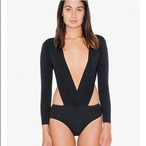 Brand new American Apparel Deep-V bodysuit