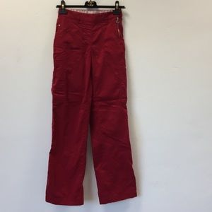 Koi red scrub pants size XS tall