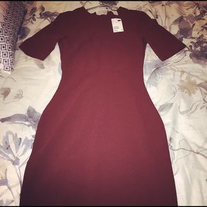 H&M Maroon Work Dress