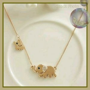 Jewelry - Delicate Elephant Necklace with Crystal Accents