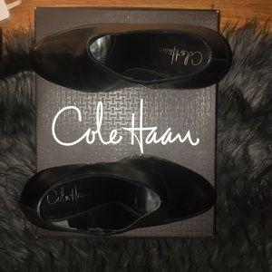 Cole Haan black leather booties