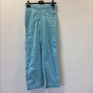 Koi light blue Sara scrub pants size XS tall