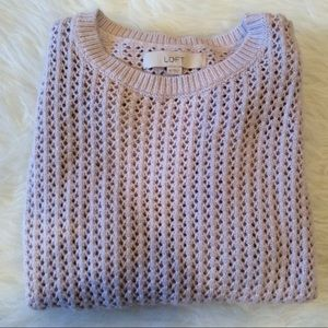 Ann Taylor Loft Perforated Sweater