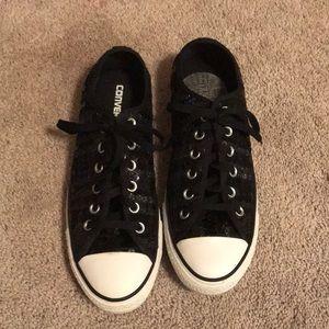 Converse Black Sparkle Sneakers