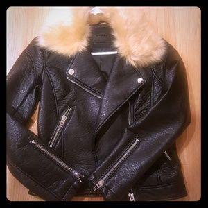 Authentic black soft leather jacket