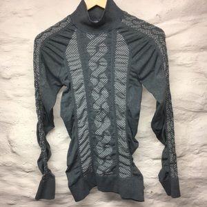 Athleta gray Turtleneck Sweater medium