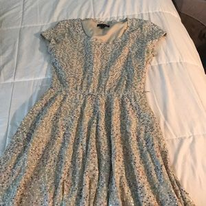 Sequined nude dress