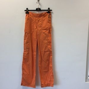 Koi light orange Sara scrub pants size XS tall