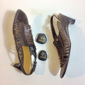 Naturalizer Shoes - Naturalizer Huaraches Sandals Brown Heels Size 1