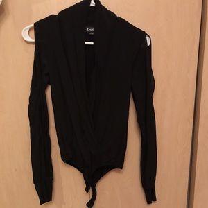 Bebe black wrap bodysuit